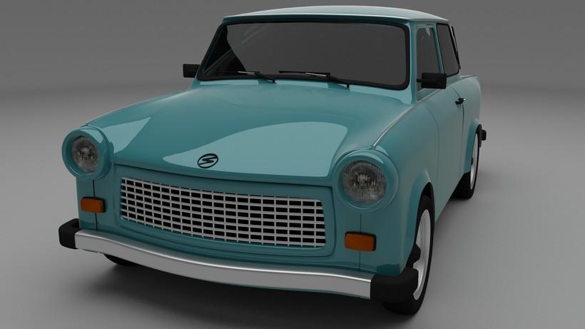 Trabant 601 HDRI 3D Model