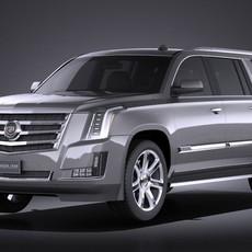 Cadillac Escalade ESV 2016 VRAY 3D Model