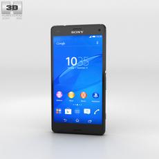 Sony Xperia Z3 Compact Black 3D Model
