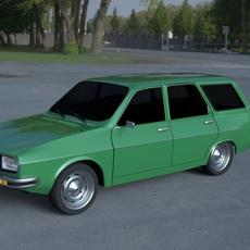 Renault 12 / Dacia 1300 Estate HDRI 3D Model