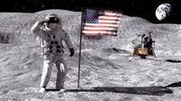 MOON NASA astronaut studio 3dsmax vray 3D Model