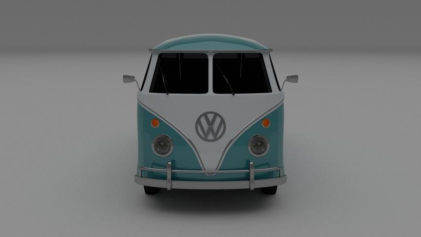 VW Bus Mk 1 HDRI 3D Model