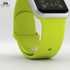 06 42 16 422 apple watch sport 38mm silver aluminium case with green sport band 600 0005 4