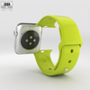 06 44 26 726 apple watch sport 38mm silver aluminium case with green sport band 600 0013 4