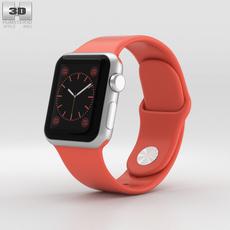 Apple Watch Sport 38mm Silver Aluminum Case Pink Sport Band 3D Model