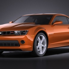 Chevrolet Camaro RS 2014 VRAY 3D Model