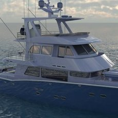 YACHT TRAWLER 3D Model