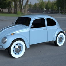 VW Beetle HDRI 3D Model