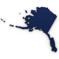 Alaska Political Map 3D Model
