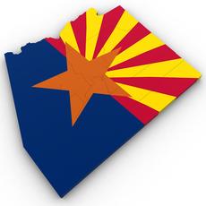 Arizona Political Map 3D Model