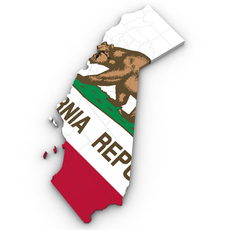 California Political Map 3D Model