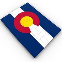 Colorado Political Map 3D Model