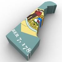 Delaware Political Map 3D Model