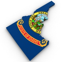 Idaho Political Map 3D Model