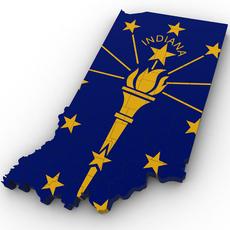 Indiana Political Map 3D Model