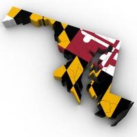 Maryland Political Map 3D Model