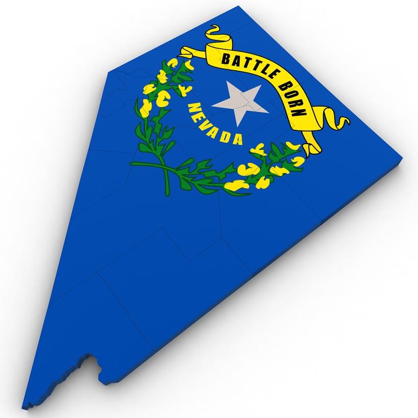 Nevada Political Map 3d Model