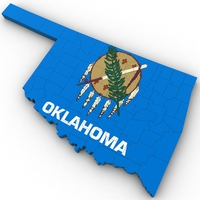 Oklahoma Political Map 3D Model