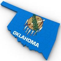 Oklahoma Political Map 3D Model