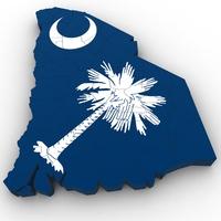 South Carolina Political Map 3D Model