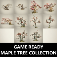 Game Ready Maple Tree Collection 3D Model