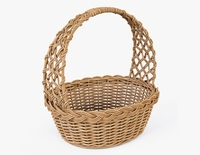 Wicker Basket 04 Natural Color 3D Model
