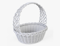 Wicker Basket 04 (White Color) 3D Model