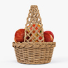 01 07 57 778 005 wicker basket04n apples  4