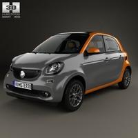 Smart Forfour 2014 3D Model