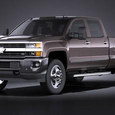 Chevrolet Silverado HD 2015 long VRAY 3D Model