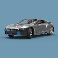 convertible Sport car 3D Model