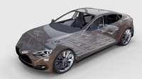 Tesla Model S with chassis/interior rev 3D Model