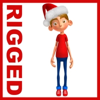 Ronnie santa claus cartoon rigged 3D Model