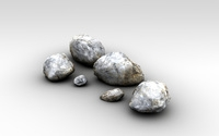 Detailed snowy rocks 3D Model