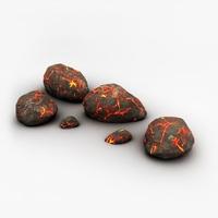 Detailed volcanic rocks 3D Model