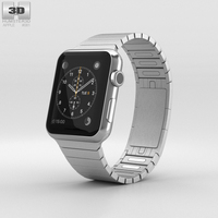 Apple Watch 42mm Stainless Steel Case Link Bracelet 3D Model