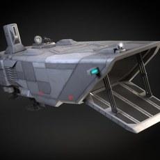 Star Wars Transporter - Atmospheric Assault Lander 3D Model