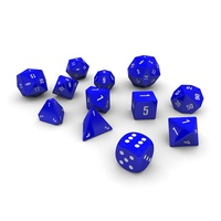 Polyhedral Dice Set - Blue 3D Model
