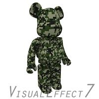 Camouflage2 BearBrick 3D Model