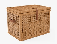 Wicker Storage Trunk 05 Toasted Oat Color 3D Model