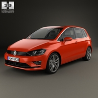 Volkswagen Golf Sportsvan 2014 3D Model