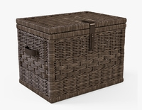Wicker Storage Trunk 05 Walnut Brown Color 3D Model