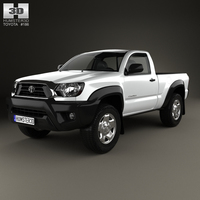 Toyota Tacoma Regular Cab 2012 3D Model