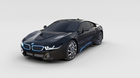 BMW i8 Black rev 3D Model