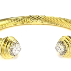 Twisted Bracelet 3 3D Model