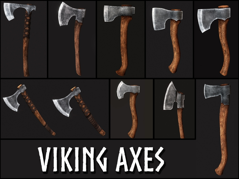 Viking Weapons 3D Model
