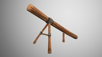 Log Ramp 3D Model