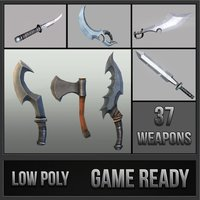 Fantasy Melee Weapons Pack 3D Model