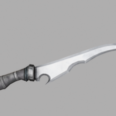 Fantasy Sharp Knife 01 3D Model