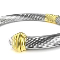 Twisted Bracelet 4 3D Model